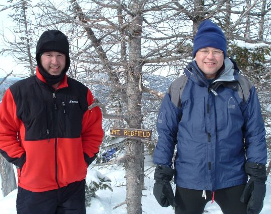 David White-Lief and Sam White on Mt. Redfield